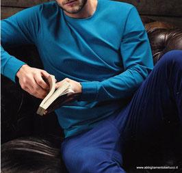 -30% Perofil Homewear Pantalone Pigiama Blu