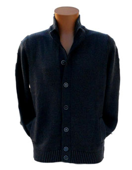 -40% Gran Sasso Uomo Vintage Coreana con Tasche Grigio
