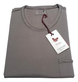 -20% Gran Sasso Vintage T-Shirt Mezza Manica con/taschino Beige Tortora
