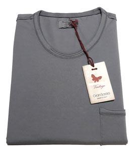 -20% Gran Sasso Vintage T-Shirt Mezza Manica con/taschino Grigio Perla