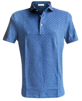 -40% Polo Uomo  Gran Sasso Blu Microdisegno