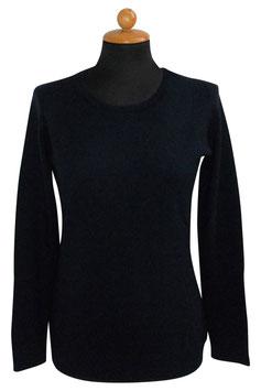 -30% Gran Sasso Donna Girocollo Puro Cashmere Blu