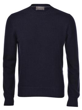 -20% Maglione Gran Sasso Felted Cashmere Blu  Slim Fit