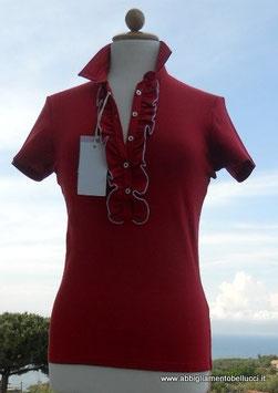 -40% Gran Sasso Polo Donna Piquet c/rousche Rosso