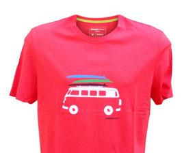 -10% Perofil T-Shirt Mezza Manica Rossa Stampa  Van