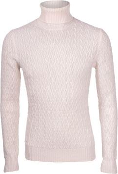 Gran Sasso Dolcevita Trecce Pura Lana Air Wool Bianco