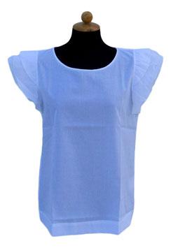 -35% Gran Sasso Camicia DonnaSenza Maniche con rousches e swarovski Bianco