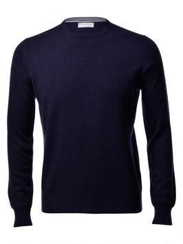 -20% Maglione Gran Sasso Puro Cashmere Blu Notte Slim Fit
