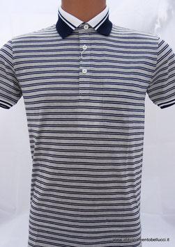 -50% Polo Uomo  Gran Sasso Girgio/Blu/bianco