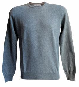 -30% Maglione Uomo Cotton Fresh c/toppe Grigio/Beige