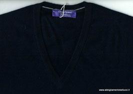 -50% Pullover Blu Gran Sasso puro Cashmere Slim Fit