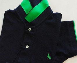 -50% Gran Sasso Polo Uomo Piquet Blu con contrasto fluo verde