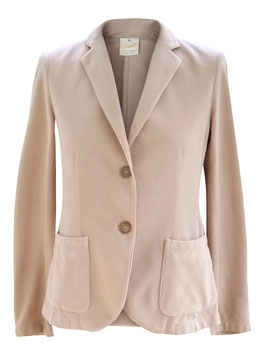-50% Giacca Gran Sasso Vintage Sartorial Cotone Picque Rosa Antico