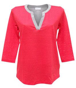 -35% Gran Sasso Pull in Lino e Seta rosso/grigio