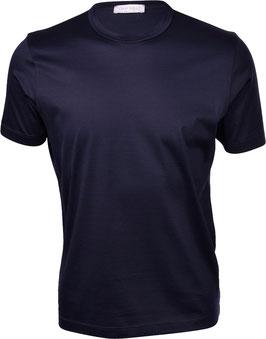 -30% Gran Sasso Filo di Scozia T-Shirt Mezza Manica Blu Notte