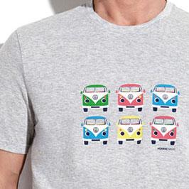Perofil T-Shirt Mezza Manica Grigia Stampa