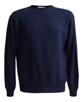 -30% Gran Sasso Paricollo Uomo Puro Cotone Blu Notte