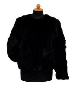 -40% Tavus Milano Giacca In Pelliccia Lapin Black