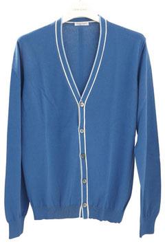-50% Cardigan Gran Sasso Uomo Cotone Azzurro