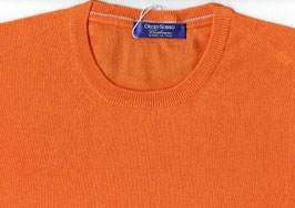 -60% Girocollo Gran Sasso Uomo 100% Cashmere Light Slim Fit Arancio
