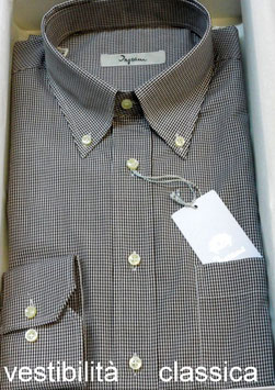 CAMICIA INGRAM QUADRETTO VISCHY BIANCO/MARRONE