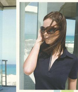 -40% Gran Sasso Polo Donna Piquet Swarovski Blu