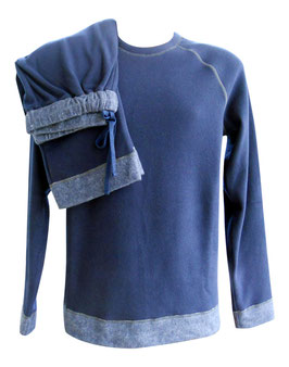 -40% Perofil Hommewear Tuta Casa Reversibile Blu tg.XL