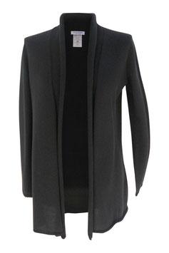 -40% Gran Sasso Donna Maxi Cardigan Cotone Nero