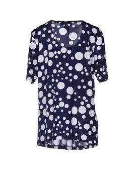-40% Gran Sasso Maglietta Donna Girocollo C/Pieghe Pois Degradè Blu/Bianco