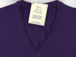 -30% Gran Sasso Pullover Viola Lana Merinos