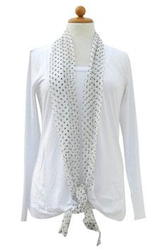 -50% Gran Sasso Donna Tvin Set Bianco Cotone Modal e Seta