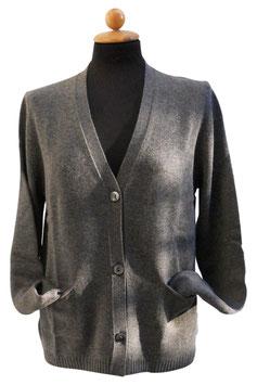 -30% Cardigan Gran Sasso Donna Grigio  C/Tasche Cashmere e Lana