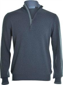 -40% Gran sasso Lupo Zip c/profili in lana e toppe in alcantara grigio
