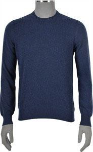 Maglione Puro Cashmere Blu Gran Sasso
