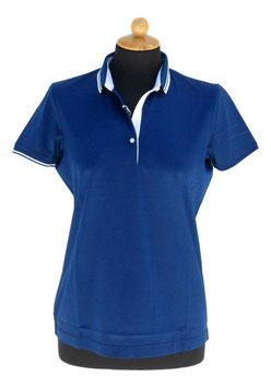 -50% Gran Sasso Solo tg.46 Donna Polo Filo Di Scozia Blu Chiaro