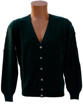 -20% Gran Sasso Cardigan Verde Slim Fit Lana Merinos Extra Fine
