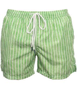 -25% Gran Sasso Costume  Uomo Da Bagno  Boxer Rigato Verde/Bianco con taschino-poschette.