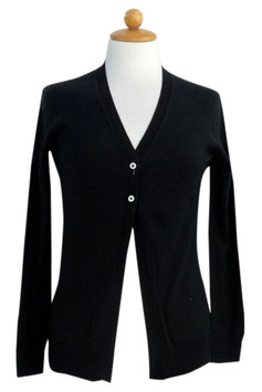 -40% Gran Sasso Donna Cardigan Cotone Blu
