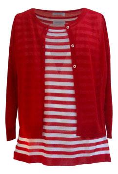 -30% Gran Sasso  Donna Twin Set Rigato Rosso/bianco