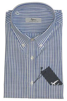 Ingram Camicia Mezza Manica c/taschino Riga Blu/Bianco