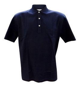 -20% Gran Sasso Taglie Grandi Polo Blu Notte con taschino in Filo di Scozia
