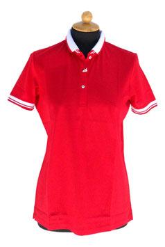 -40%Gran Sasso Polo Donna Filo Di Scozia Rosso/Bianco