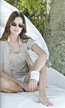 -50% Gran Sasso  Vintage Donna Twin Set Cotone Beige