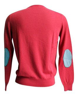-30% Maglione Uomo Cotton Fresh c/toppe Rosso/Grigio