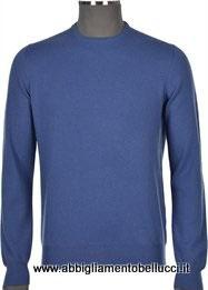 -35% Paricollo Gran Sasso Uomo 100% Cashmere Azzurro
