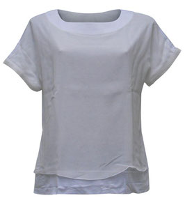 -30% Blusa Gran Sasso Mezza Manica Bianco Seta/Viscosa