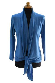 -40% Gran Sasso Donna Cardigan Estivo Azzurro Cotone e Modal
