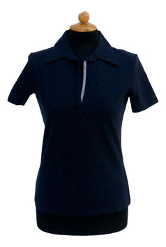 -50% Gran Sasso Polo Donna Piquet Swarovski Blu