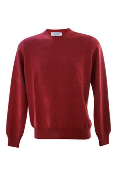Maglione Gran Sasso Puro Cashmere Rosso Mattone