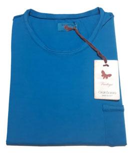 -20% Gran Sasso Vintage T-Shirt Mezza Manica con/taschino Azzurro